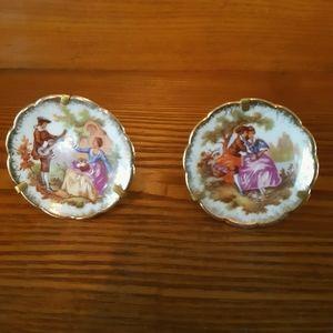 Vintage miniture Limoges Plates